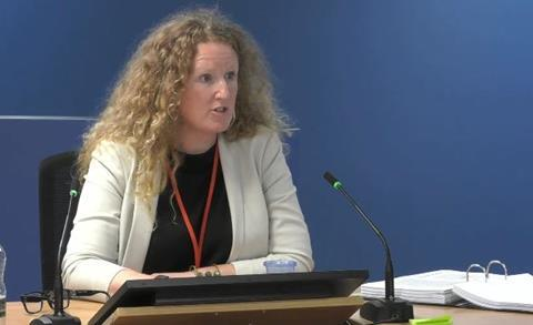 Expert witness Dr Barbara Lane gives evidence to the Grenfell Tower Inquiry on 29 October 2020