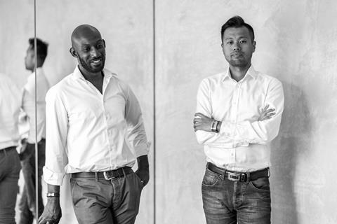 Tszwai So, right, and Sam Bentil-Mensah, founding directors of Spheron Architects -410