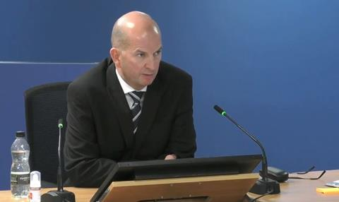John Allen, former building control manager at the Royal Borough of Kensington & Chelsea, gives evidence to the Grenfell Tower Inquiry on 5 October 2020