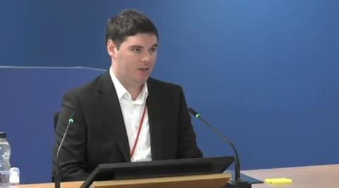 Ben Bailey gives evidence to the Grenfell Tower Inquiry on 21 September 2020
