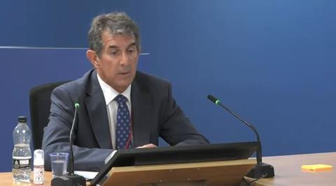 Geof Blades gives evidence to the Grenfell Tower Inquiry on 23 September 2020