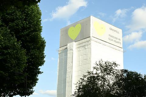 Grenfell Tower wrapped