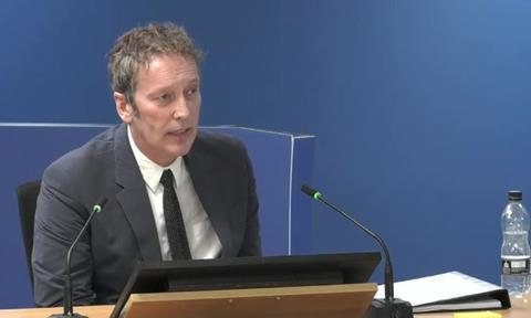 Peter Maddison, former director of assets and regeneration at Kensington and Chelsea Tenant Management Organisation, gives evidence to the Grenfell Tower Inquiry on 21 October 2020