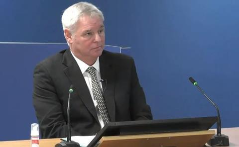 Ray Bailey, director of Harley Facades, gives evidence to the Grenfell Tower Inquiry on 8 September 2020
