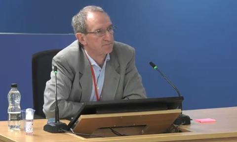 Mark Osborne of subcontractor Osborne Berry gives evidence to the Grenfell Tower Inquiry on 28 September 2020