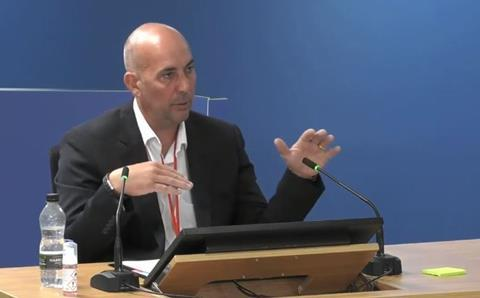 Grahame Berry gives evidence to the Grenfell Tower Inquiry on 29 September 2020