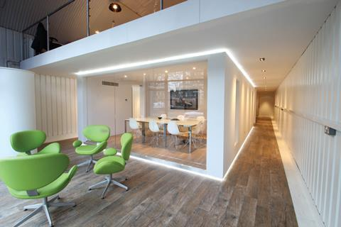 Using bim allows all interfaces between the specified flooring and other parts of the building to be reconciled before installation. Here Karndean Design-flooring was installed in London's Push Studios.