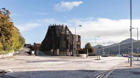 Hoskins Architects revised 2017 proposal for the old Royal High School on Calton Hill in Edinburgh