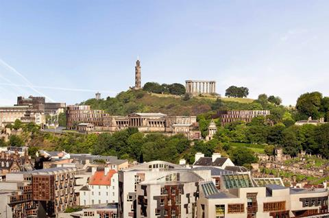 Hoskins Architects rejected 2015 proposal for the old Royal High School on Calton Hill in Edinburgh