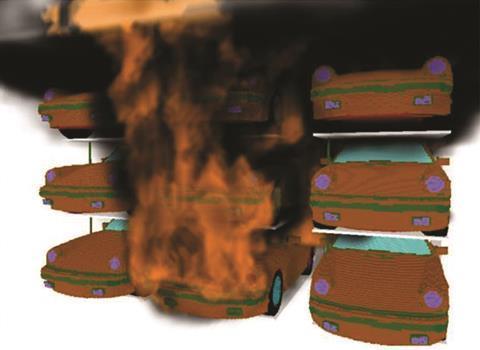 Bsa cars on fire