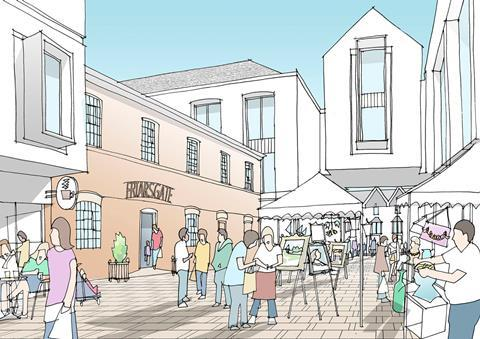 JTP plan for Winchester - view of Friarsgate Yard