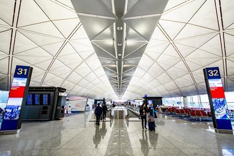 Hong Kong International Airport at Chek Lap Kok by Foster and Partners_shutterstock