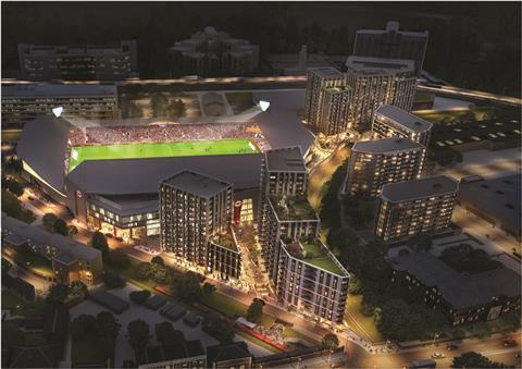 Brentford FC Community Stadium BCS-night-time-CGI-September-2017