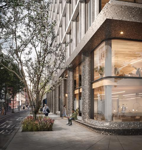 03 Piercy&Company_Network Building_Entrance from Howland Street_CGI by Studio Archetype (1)