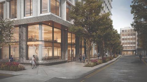 04 Piercy&Company_Network Building_Ground level view along Howland Street_CGI by Piercy&Company (1)