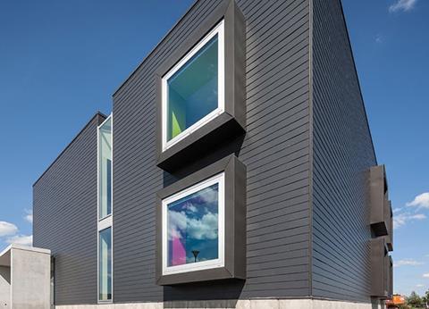 Marley Eternit's Vertigo range of fibre cement slates was used to clad this house in Belgium