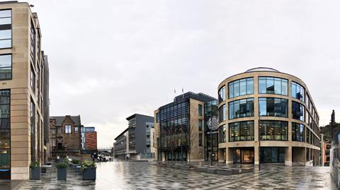New Waverley Square in Edinburgh by Allan Murray Architects
