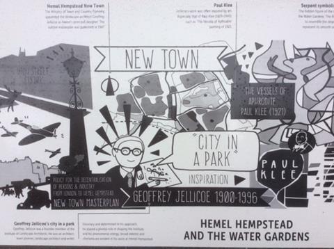 Hemel Hempstead information sign