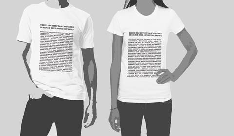 Olympic architect t shirt