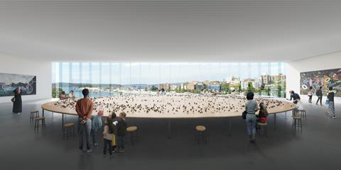 AGNSW_SMP_Column-free gallery_Art Gallery of New South Wales Sydney Modern Project by Sanaa