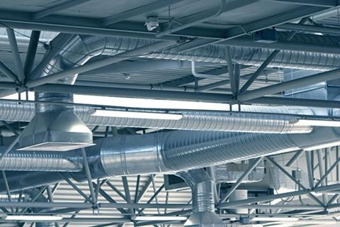 Ceiling ductwork ventilation