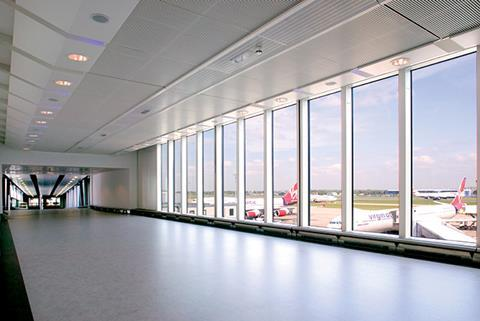 Reynaers' CW 86 unitised curtain walling was used on BAA's airport-pier segregation project at Heathrow