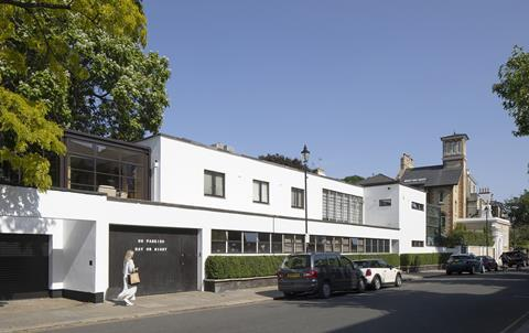 Apt extension to 64 Old Church St Chelsea by Erich Mendelsohn and Serge Chermayeff