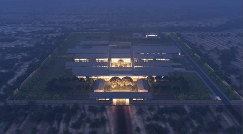 District Hospitals_Dusk Aerial View_Adjaye Associates
