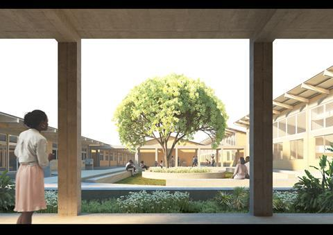 District Hospitals_Central Courtyard View_Adjaye Associates