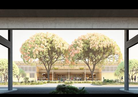 District Hospitals_Main Canopy Entrance_Adjaye Associates