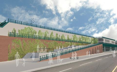 Chalk Architecture's proposals to revive Madeira Terrace in Brighton, drawn up in conjunction with Boxpark