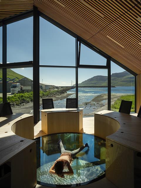 Henning Larsen's Eysturkommuna town hall in Nordragota, Faroe Islands