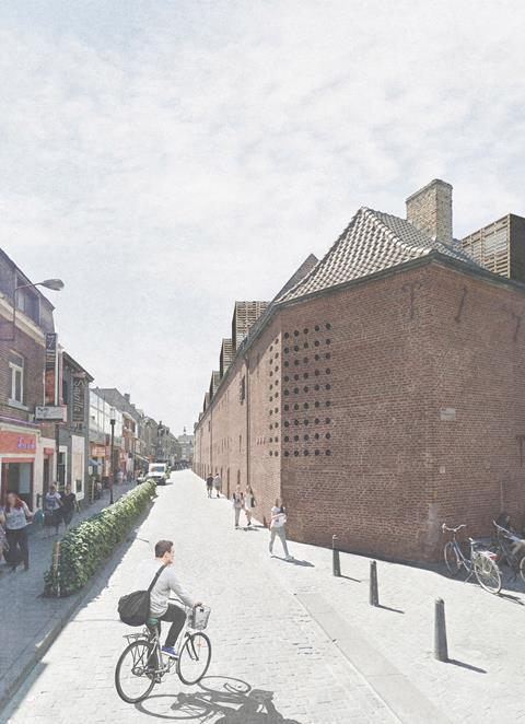 Corner. David Kohn Architects' scheme for Hasselt University beguinage