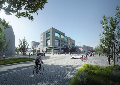 Alkerden CoE Academy - Fastrack view of Secondary School, key landmark corner © Lifang UK (1)