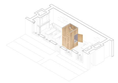 Studio space. David Kohn Architects' scheme for the Hasselt University beguinage