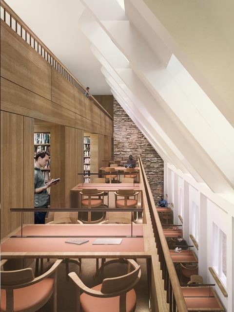Corpus Christi Oxford-Internal_Reading Room © Wright & Wright Architects