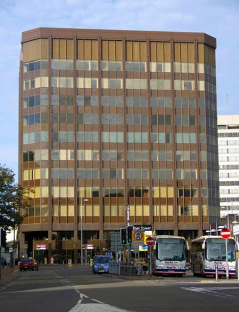 Thames Tower before DN-A Architects' remodeling. The building dates back to 1972 and was originally known as Foster Wheeler House