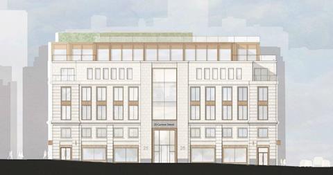 West elevation of 25 Cannon Street as it would appear under Buckley Grey Yeoman's proposals