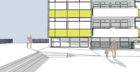Studio Partington's proposals for the new infill flats at Great Arthur House