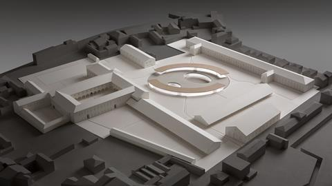 Model of David Chipperfield Architects Milan's proposed Padua campus