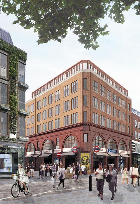 Consented Covent Garden Tube scheme by Gort Scott