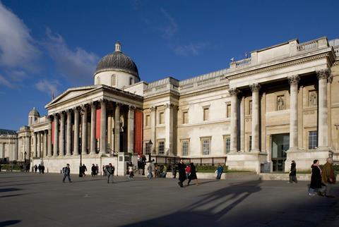 National Gallery from Trafalgar Square