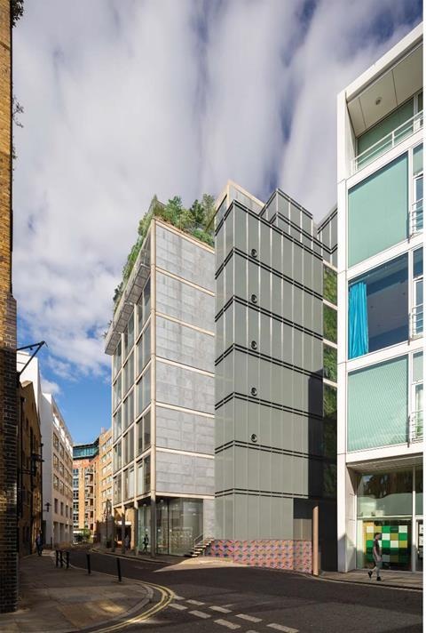 22 Shad Thames by Hopkins - proposed Squires scheme from road CGI Nov 2020