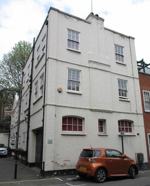 The building in Woods Mews that would be demolished to make way for the Stanesby Architecture proposals