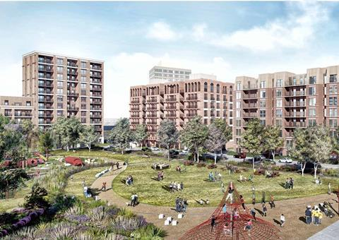 The Winstanley and York Road Estates regeneration plans, drawn up by HTA, Henley Halebrown and LA Architects