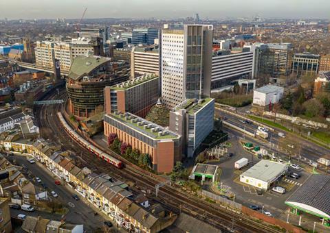 DAS_RSHP_Hammersmith hotel - aerial CGI