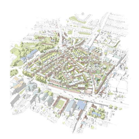 ANG Aerial View of proposed Norwich Anglia Square alternative