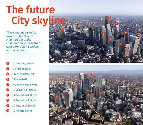 The future City skyline - anotated
