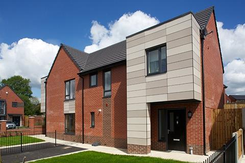 Catnic CTF5 lintels were used on this social housing scheme by Seddon in Bolton