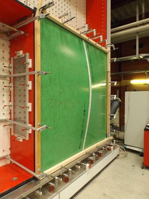The PROPASSIV system undergoing a 2,000Pa-plus pressure test